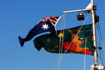 Ozzie Flags - Geelong Water Front - Australia - Jan 26, 2007