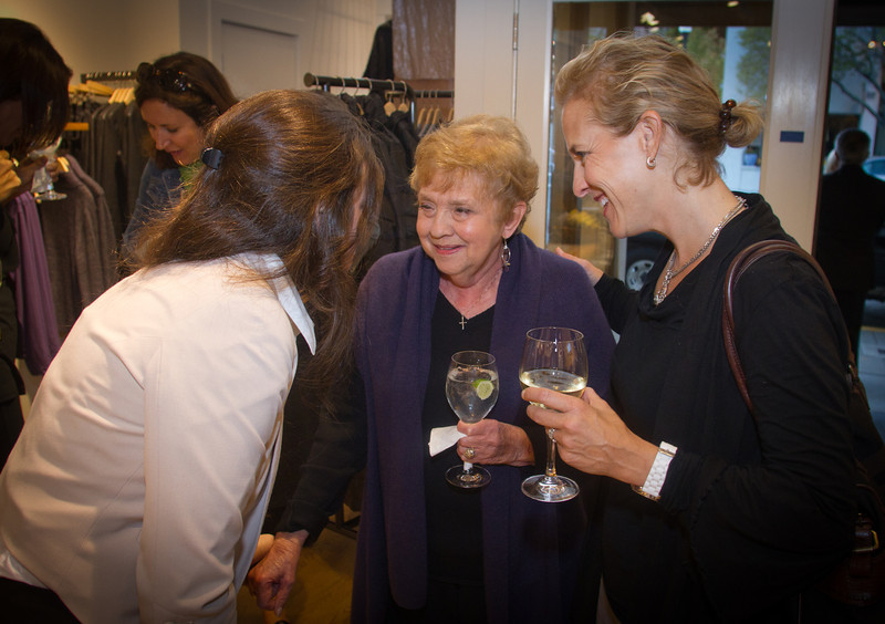 """Author Rae Meadows with her Mom Jane Meadows reads from her book """"Mothers and Daughters"""" at the Eileen Fisher store in Mill Valley, Calif., on Thursday,  October 20, 2011."""