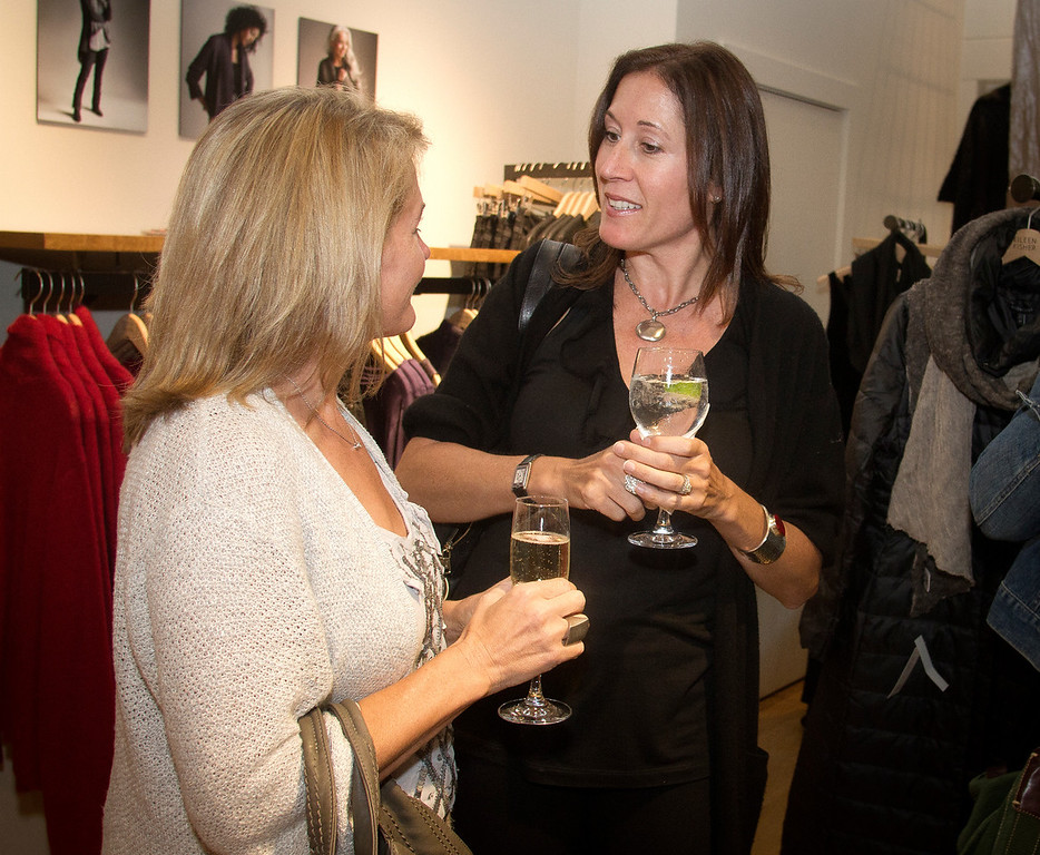 "Author Rae Meadows with her Mom Jane Meadows reads from her book ""Mothers and Daughters"" at the Eileen Fisher store in Mill Valley, Calif., on Thursday,  October 20, 2011."