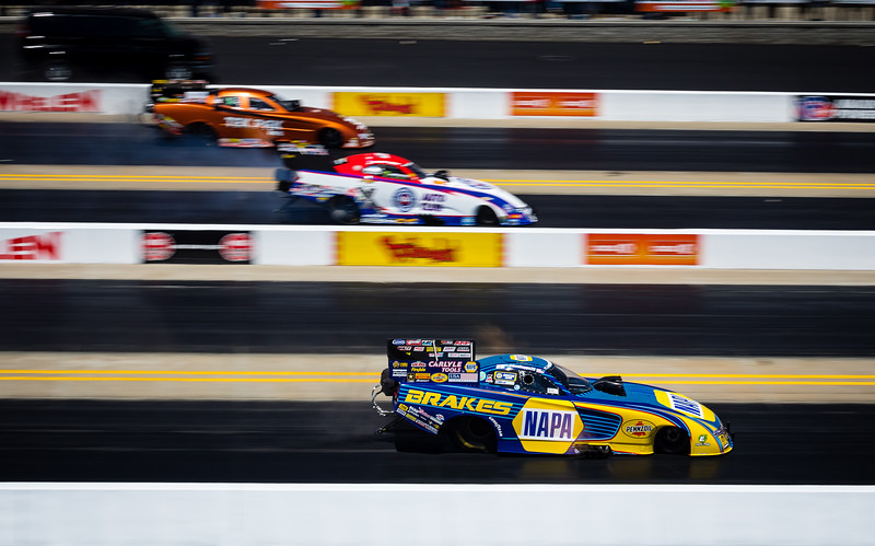 Had the pleausre of getting to spend some time with NHRA Funny Car Driver @RonCapps28 during our photoshoot for @Dragillustrated Magazine.   One of the most geniune people you will ever meet, a true pleausre ot work with.   Here he is getting it done on the track during the finals.   Thank you to @ShoeRacing and @Allicat1083 for giving us such great access to your Drivers.  ....... ................   @NHRA  ..................