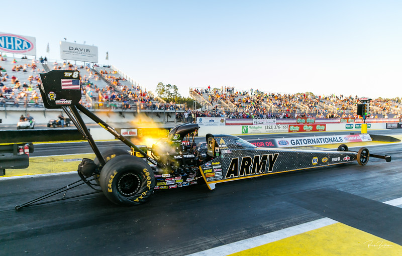 Tony Schumacher coming off the line at the NHRA Gatornationals this weekend.  Hard to decribe the feeling being only a few feet away from one of these beasts when they take off........