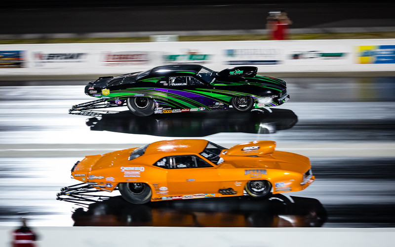 Great time yesterday working for my friends at Drag Illustrated Magazine covering the opening PDRA Drag Racing Event.   This side by side shot is of the Top 2 quaifiers Tommy Fanklin and Jay Cox.    .................................  @DragIllustrated  @Jaycox1030   @pdraracing  @afranklin.05_  .........................................