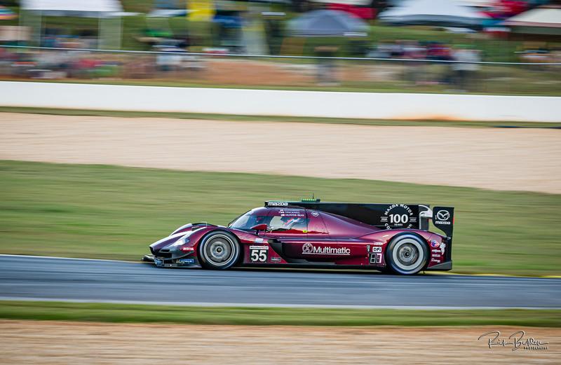 "DPi Class Team Mazda racing in the IMSA series at the ""Petit LeMans"" Sports Car Edurance Race.     .................................................."