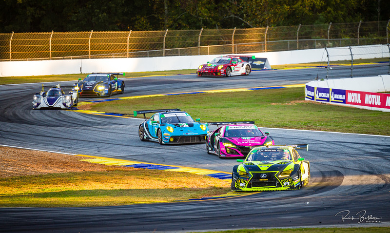"""Not often you see this variety of cars on a track at the same time.  Lexus, Acura, Porsche, and Aston Martin.   IMSA series at the """"Petit LeMans"""" Sports Car Edurance Race.     .................................................."""