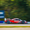 """Team Penske Acura from the DPi Class racing in the IMSA series at the """"Petit LeMans"""" Sports Car Edurance Race.     .................................................."""