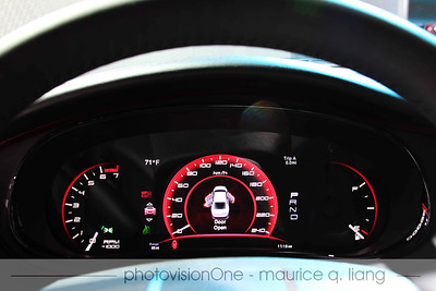 "The Dart's gauge cluster features a 7"" configurable TFT display in the center."