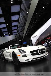 Mercedes SLS convertible.