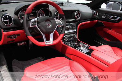 Interior of the SL is up to the usual Mercedes standards.