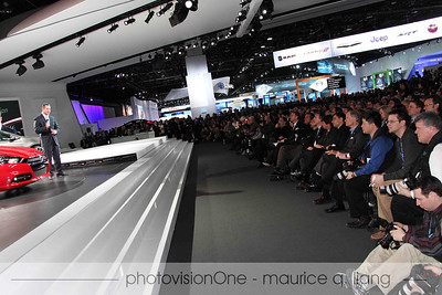 Huge media attendance at the press launch.  CEO Sergio Marchionne is in the front row near the center.