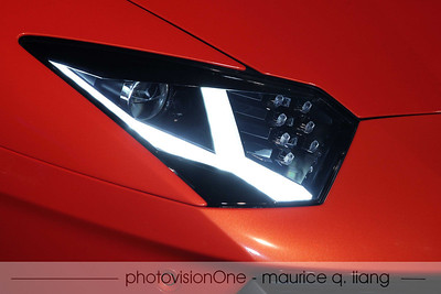 Aventador's headlight design.