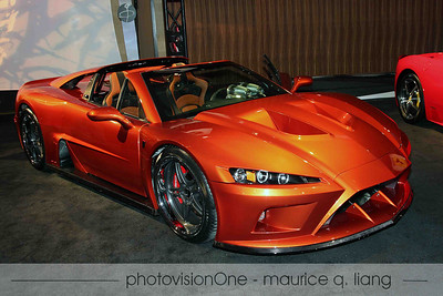 Falcon F7.  First production car.  Starts at $230,000.  Powered by GM V8.