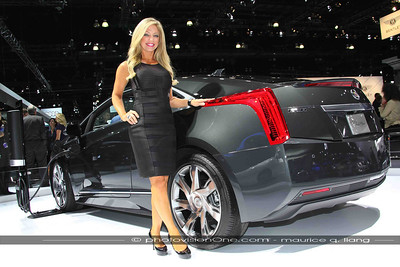 Rosemary with the Cadillac ELR.