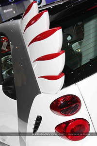 Wings on a Smart Car.