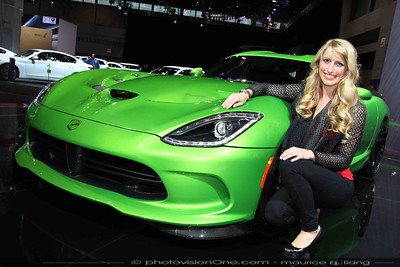 Spokesmodel Breana with the Viper.