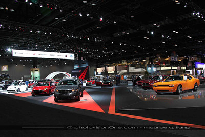 Chrysler's booth is huge.