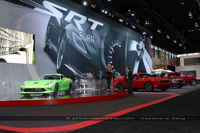 SRT Booth was in a separate hall from the Chrysler booth, near the other luxury and exotic cars.