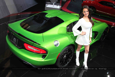 Mopar Girl Taylor with the Viper.