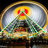 Ferries wheel at night