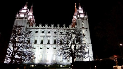 The Mormon Temple, downtown Salt Lake City
