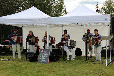 The Alaska Button Box Gang played great music all afternoon