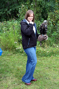 Patrica and Jasper the rough-legged hawk