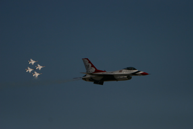 Thunderbirds :  One in foreground, four in Background.