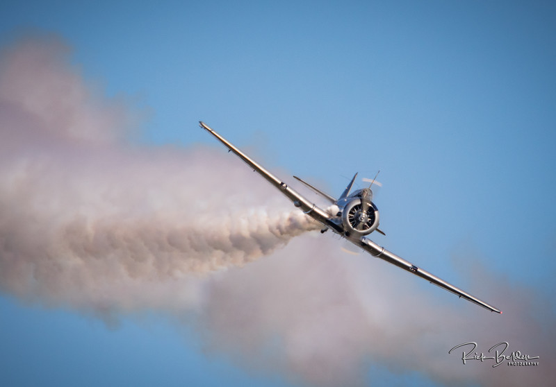 "One of my favorite shots from the ""Warbirds over Monroe"" Air Show.   Thanks to my firned Savanah who is giving me the plane classifications...this one I believe is a ""T6 Texan""     ..................................................................."