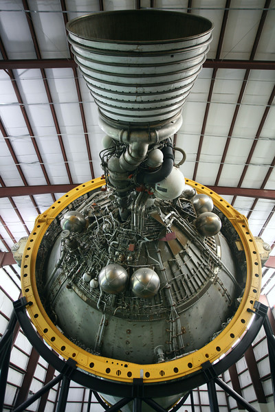 3rd stage engine, of the preserved Saturn V rocket at Houston Space Centre.