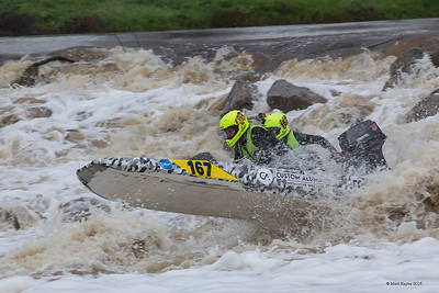 Avon Descent 2018 -  Powerboats - Extracts Weir