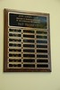 Plaque listing past presidents of the Avon Garden Club is hanging in the main lobby of the Miller Nature Preserve.