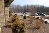 View of parking from Avon Garden Club's garden