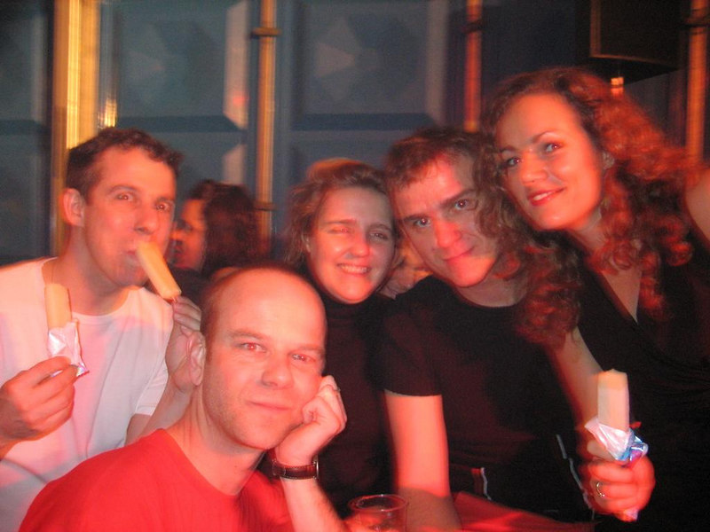 Me and the rest of the gang: Martin, Caro, Sjoerd and Jeanette. Sander and Astrid are sitting behind Caro and Melika took the picture.