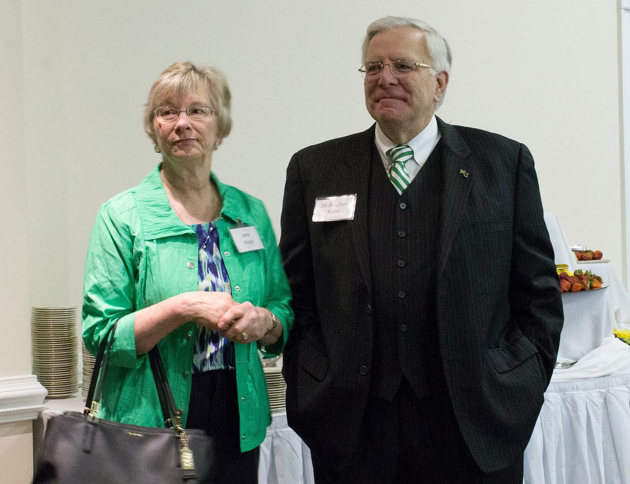 President & Mrs  Kopp