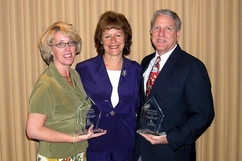 Amy Zalinsky, Carol Mack and Ray Clermont