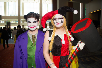 Evan Croft  (Alexandria VA) as the Joker , Emily Barker (Falls Church, VA) as Harley Quin