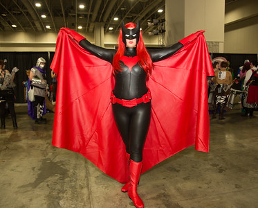 Queen Helene as Batwoman