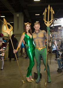 Corey Prosise and Tess Banky of Columbia MD are Aquaman and Mera