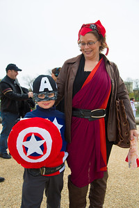 Pilot (age 5) as Captain America   Gina as Scarlett Witch