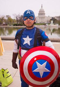 Christian Evangelista  (DC) as Captain America