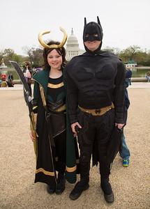 Natalie  as Loki  &  Jamie as Batman    (Odenton, Md)