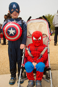 Gus (age 6) as Captain America and Max (3 1/2) as Spiderman (Falls Church VA)
