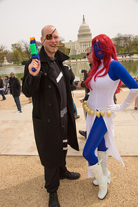 Addison Faucion as Nick Fury Gina Faucion as Mystique