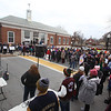 Women's March in Ayer begins with a rally at Town Hall. (SUN/Julia Malakie)