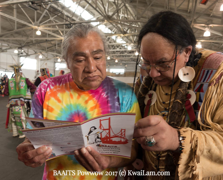 Ranyd Burns and Clyde Hall--founders of Gay American Indians--read the BAAITs program