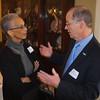 Retired SOE faculty member Carol Malloy with Dean Bill McDiarmid.