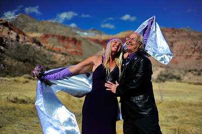 Photographs of BB and Keith's wedding in Red Rock Park on February 14, 2009.