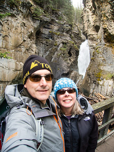 In Johnston canyon.