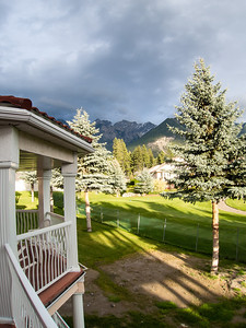 View from our condo patio in Fairmont Hot Springs BC