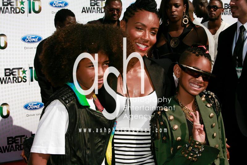 Jaden, Jada, and Willow Smith
