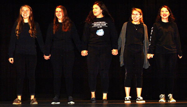 Debbie Blank | The Herald-Tribune<br /> Some of the many tech crew members take a bow after the conclusion of one-acts Dec. 2.